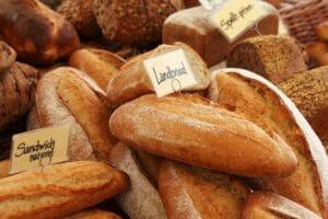 heaps of bread